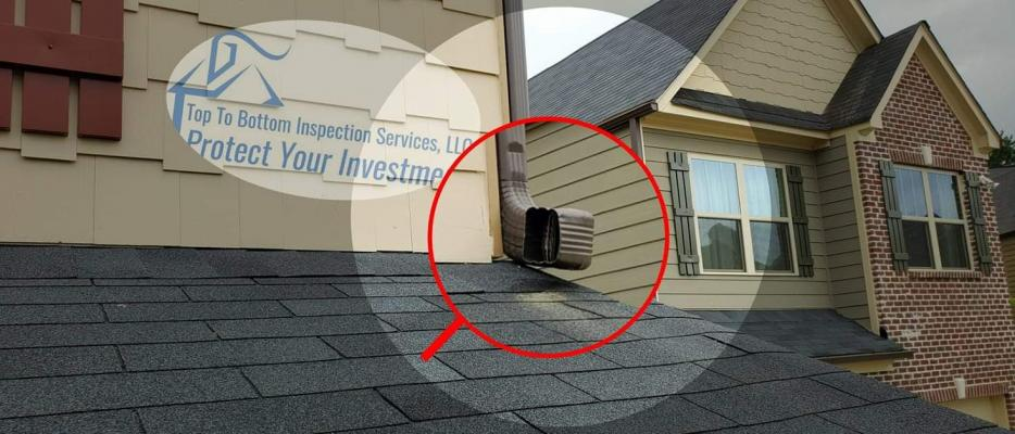 Downspouts emptying directly onto the roof is BAD BUSINESS.