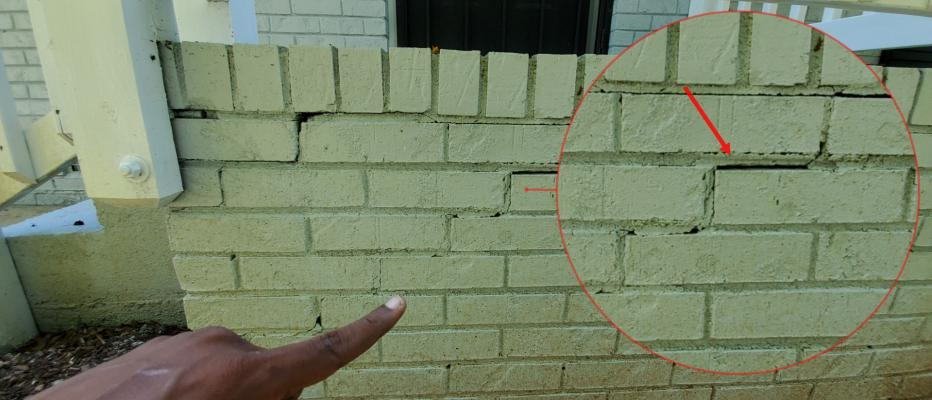 Stairstep cracks can be a sign of significant structural issues.