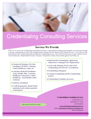 Credentialing Consulting Service | Support Black Owned