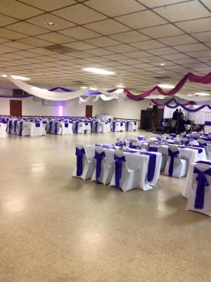 Ceiling Draping and Table Decor
