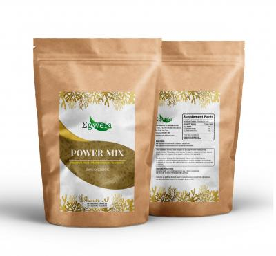 Enjoy the Power of our herbs in a well-thinking blend that combines Sea Moss - Burdock root - and Bladderwrack. The Mix is rich in iodine, vitamines and natural antioxidants to support thyroid health, skin beauty and energy.