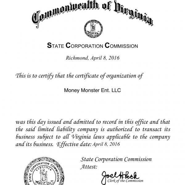 Money Monster Ent LLC.