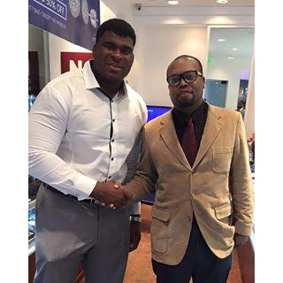 Hampton and #76 DJ Fluker of the San Diego Chargers