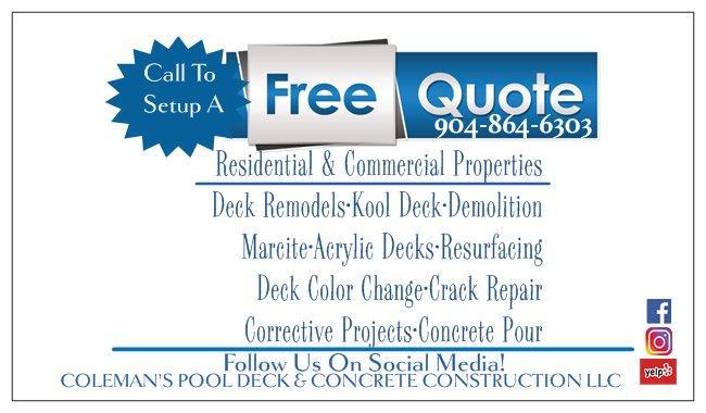 Coleman's Pool Deck & Concrete Construction, LLC