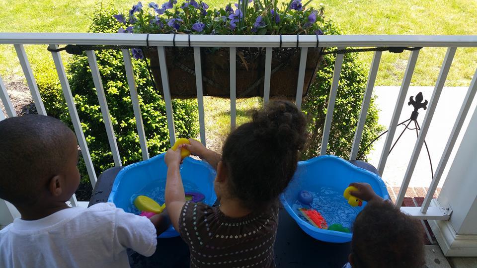 Water table fun!
