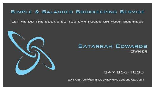 Simple & Balanced Bookkeeping Service