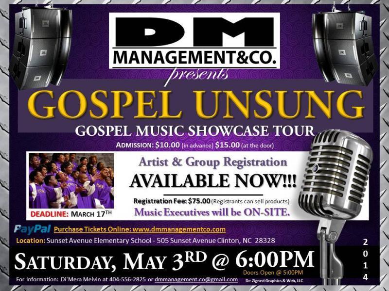 GOSPEL UNSUNG: GOSPEL MUSIC SHOWCASE TOUR