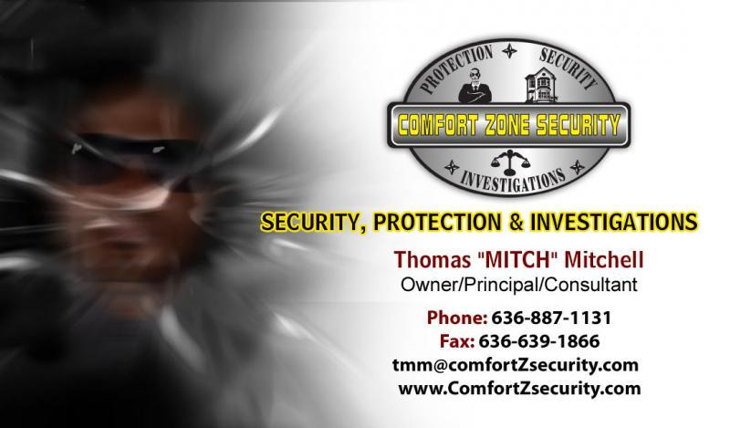 Comfort Zone Security, Protection & Investigations, LLC