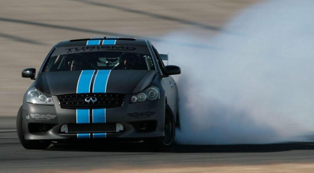Driver, Barry Clapp, Sliding his Infiniti M67