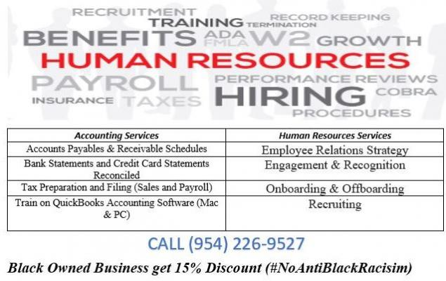 ?Accounting and HR Services for BLACK BUSINESSES?