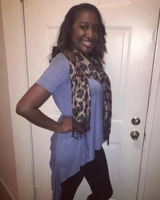 Periwinkle Top & Scarf from Vee's Boutique